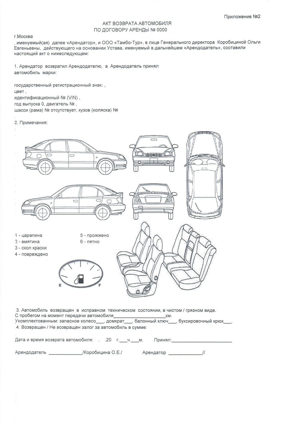 Акт-передачи автомобиля
